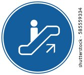 escalator sign up blue. vector. | Shutterstock .eps vector #585559334