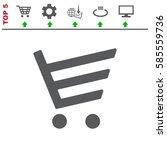 cart icon vector flat design...