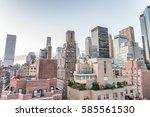 tall buildings of manhattan ...   Shutterstock . vector #585561530