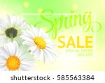 spring sale concept. summer... | Shutterstock .eps vector #585563384