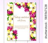 vintage delicate invitation... | Shutterstock .eps vector #585567128