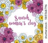 vector design for women's day... | Shutterstock .eps vector #585568796