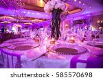served table for dinner on the... | Shutterstock . vector #585570698