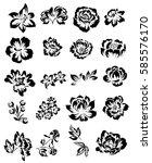 flower set | Shutterstock .eps vector #585576170