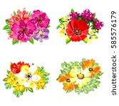 flower set | Shutterstock .eps vector #585576179