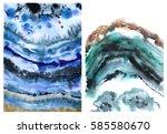 Agate Slice Coaster  Blue Gree...
