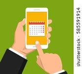 calendar  schedule  reminder ...   Shutterstock .eps vector #585591914
