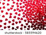 valentine's day  decorative... | Shutterstock . vector #585594620
