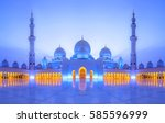 sheikh zayed grand mosque at... | Shutterstock . vector #585596999