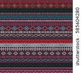 ethnic boho  aztec seamless... | Shutterstock . vector #585604280