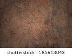 old rust texture  | Shutterstock . vector #585613043