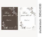 template for folder  brochure  ... | Shutterstock . vector #585614330