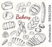 hand drawn vintage vector...   Shutterstock .eps vector #585615206