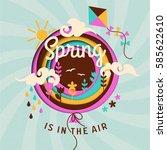 spring paper illustration | Shutterstock .eps vector #585622610