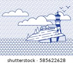 illustration in the style of a... | Shutterstock .eps vector #585622628