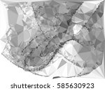 abstract monochrome mosaic... | Shutterstock .eps vector #585630923