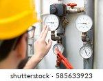 maintenance   technician... | Shutterstock . vector #585633923
