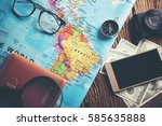 concept of travel   view of... | Shutterstock . vector #585635888