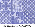 spanish ceramics abstract... | Shutterstock . vector #585645704