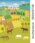 agriculture landscape | Shutterstock .eps vector #585645758