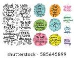vector set of inspirational... | Shutterstock .eps vector #585645899