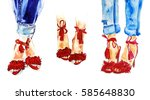Red Summer Fashion Shoes And...