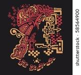abstract design. sketch texture.... | Shutterstock . vector #58564900