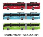 set of bus rapid transit or brt ...   Shutterstock .eps vector #585655304