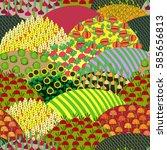 fields seamless pattern.... | Shutterstock .eps vector #585656813