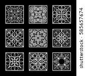set of vector design element.... | Shutterstock .eps vector #585657674