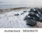 wave | Shutterstock . vector #585658370