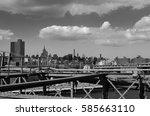 new york  brooklyn bridge ...   Shutterstock . vector #585663110
