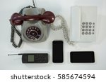 old and modern technology... | Shutterstock . vector #585674594