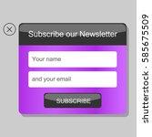 news subscription window. a... | Shutterstock .eps vector #585675509