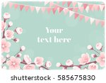 horizontal template with cherry ... | Shutterstock .eps vector #585675830