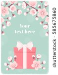 Vertical Template With Pink...