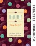 vintage vinyl record vertical... | Shutterstock .eps vector #585675866