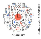 disability concept medical... | Shutterstock . vector #585684320