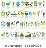 eco friendly bio green energy... | Shutterstock . vector #585684338