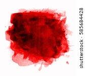 blood splash  | Shutterstock . vector #585684428