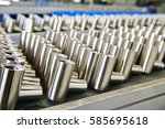 stainless steel pipe | Shutterstock . vector #585695618
