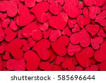 valentines day greeting card.... | Shutterstock . vector #585696644