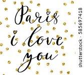 paris i love you postcard.... | Shutterstock .eps vector #585697418