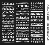 collection of hand drawn...   Shutterstock .eps vector #585697490