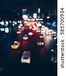 blur city light of traffic on... | Shutterstock . vector #585700934