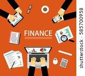 vector illustration of finance...   Shutterstock .eps vector #585700958