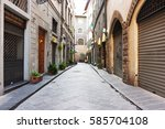 florence  italy   february 06 ... | Shutterstock . vector #585704108