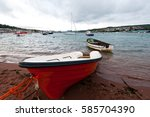 Teignmouth Back Beach With Red...