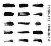 collection of black ink brush... | Shutterstock .eps vector #585708338