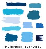 Blue Vector Brush Strokes Of...